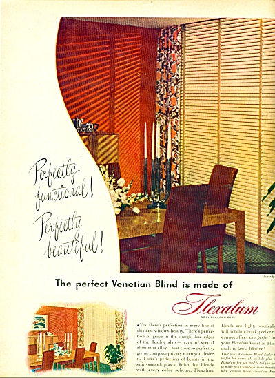 Flexalum venetian blinds ad 1947 (Image1)