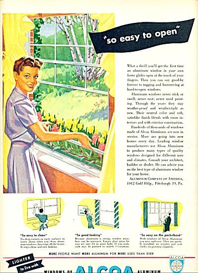 1947 Alcoa aluminum windows AD ART SIP (Image1)