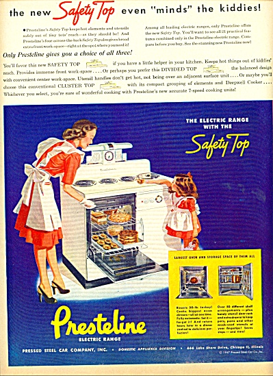 Prestelin electric range ad 1947 (Image1)