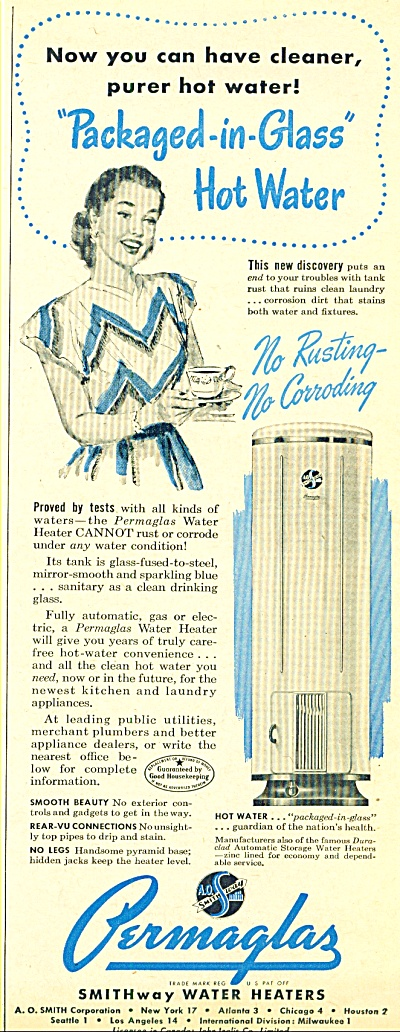 Permaglas water heaters ad 1947 (Image1)