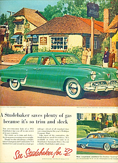 1952 Studebaker COMMANDER Car Promo AD (Image1)