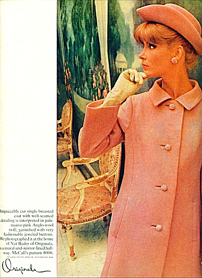 1965 McCalls Pattern AD VICKI HILBERT Model + (Image1)