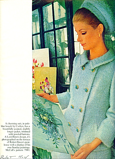 1965 McCalls Pattern AD VICKI HILBERT MODEL++ (Image1)