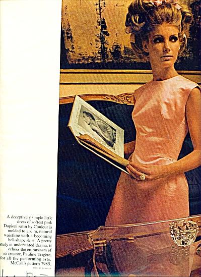 1965 McCall Pattern AD VICKI HILBERT Model+++ (Image1)