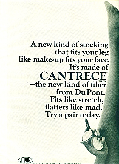 Cantrece fiber by DuPont ad 1965 (Image1)