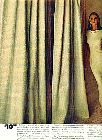 1965 Burlington House AD DRAPES - ELEGANT MOD (Image1)