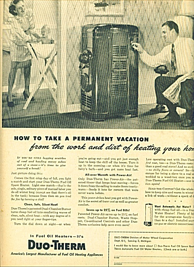 Duo-Therm fuel oil heaters ad 1945 (Image1)
