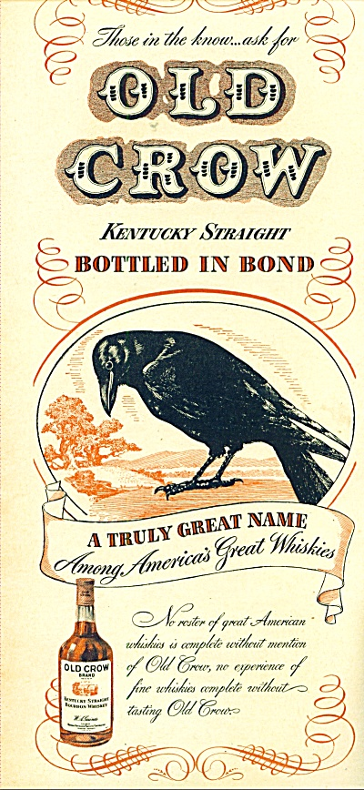 Old Crow kentucky whiskey ad 1946 (Image1)