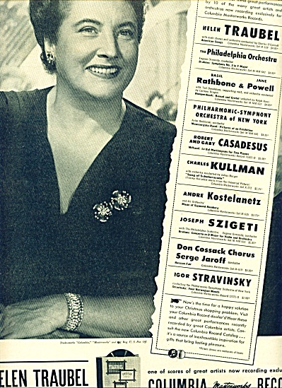 Columbia Records - HELEN TRAUBEL  1946 (Image1)