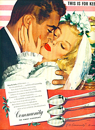 1946 Community Silver AD Whitcomb WEDDING ART (Image1)