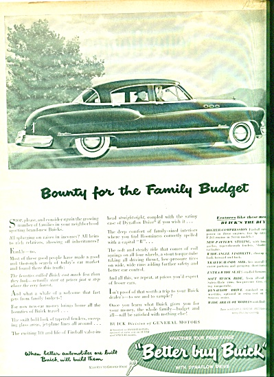 Buick automobile ad 1950 (Image1)