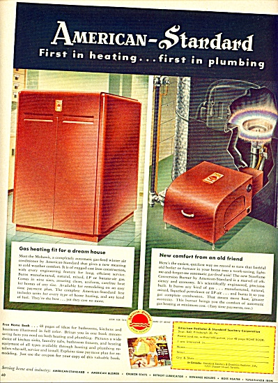 American Standard heating & plumbing ad 1950 (Image1)