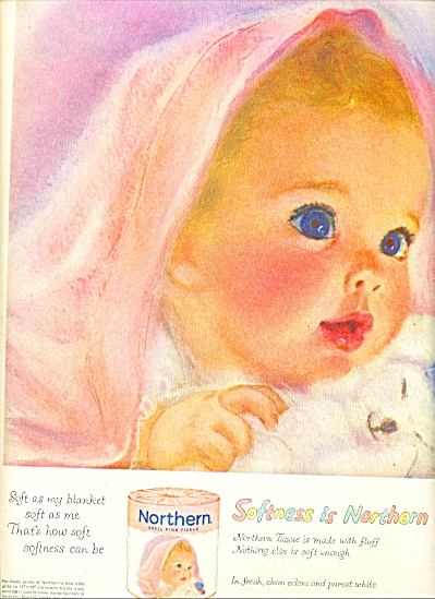1959 Northern Tissue BABY Beautiful AD (Image1)