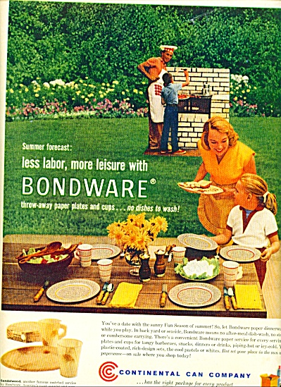 1960 CCC Continental Can AD FAMILY BBQ (Image1)