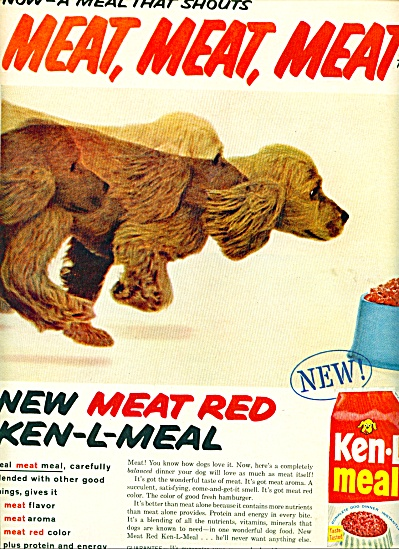 Ken-L Meal ad 1959 - dog food (Image1)