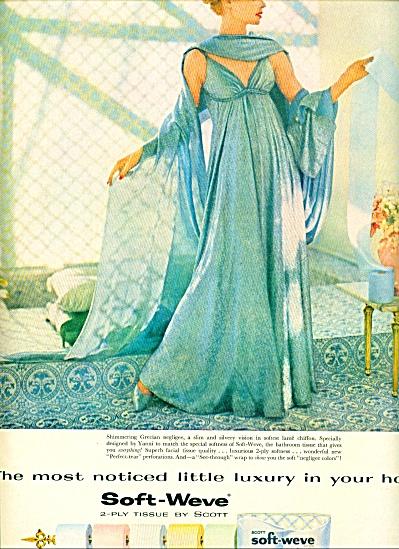 1959 Scott Soft AD YANNI GRECIAN NEGLIGEE MODEL (Image1)