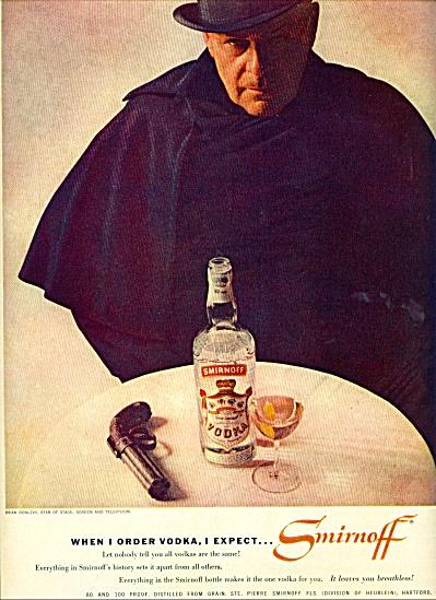 1959 Smirnoff Vodka - BRIAN DONLEVY  ad (Image1)