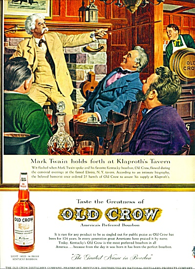Old Crow bourbon whiskey ad 1959 (Image1)
