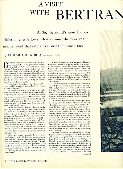 A visit with BERTRAND RUSSELL  1958 (Image1)