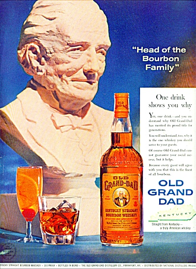 Old Grand Dad kentucky bourbon whiskey ad 1959 STATUE (Image1)