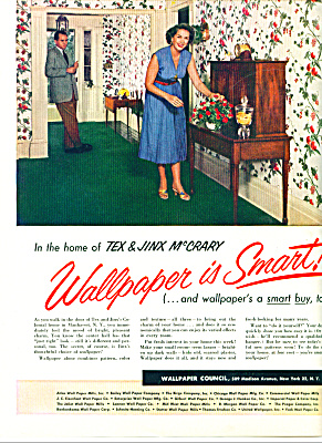 1954 Wallpaper AD TEX - JINX McCrary (Image1)