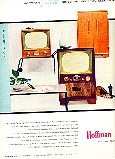 1954 Hoffman PACIFICA TV television  ad (Image1)