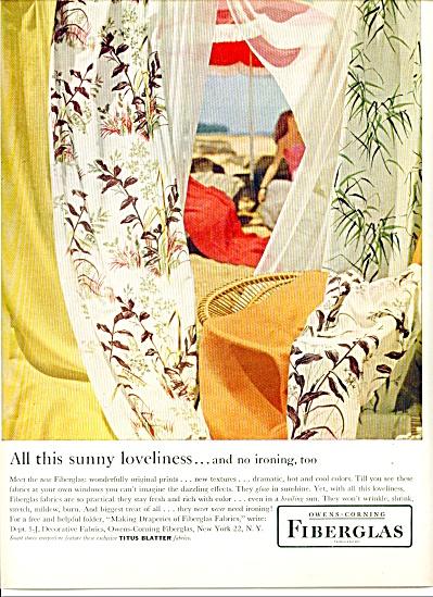 Owens Corning Fiberglas ad (Image1)