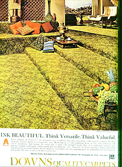 Downs quality carpets ad 1969 (Image1)