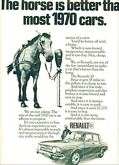 Renault automobile ad for 1970 (Image1)