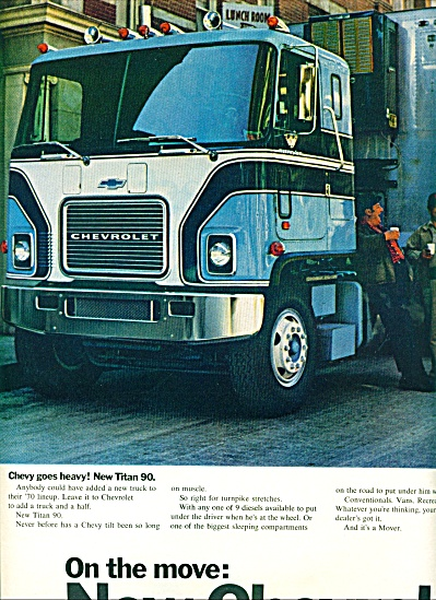 1970 CHEVY Chevrolet TRUCK AD checkpic (Image1)