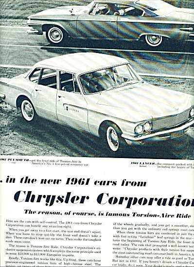 Plymouth - Dodge Lancer for 1961 ad (Image1)