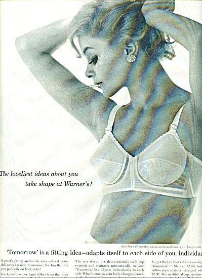 1961 Tomorrow by Warner's BRA AD Blonde Bobby (Image1)