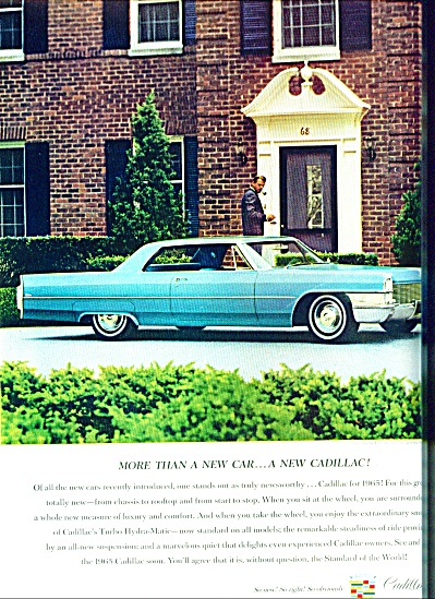 Cadilllace Automobile For 1965