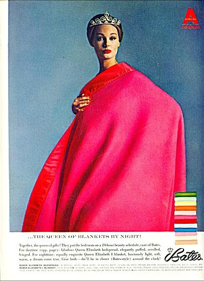 1964 BATES Queen Blankets AD ELEGANT MODEL (Image1)