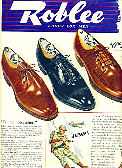 Roblee shoes for men ad 1943 (Image1)
