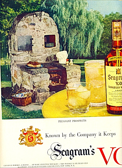 1951 Seagram's VO Canadian whisky AD BBQ #2 (Image1)