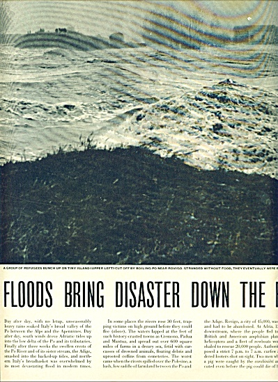 1951 FLOOD DISASER  in PO ITALY Story MACABRE (Image1)