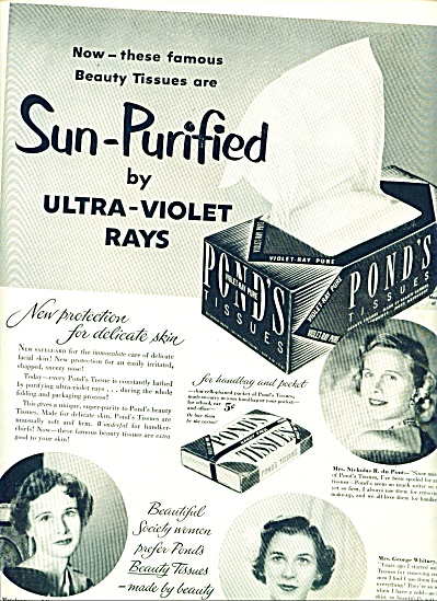 1951 Pond's tissues ad 1951 Famous Women (Image1)