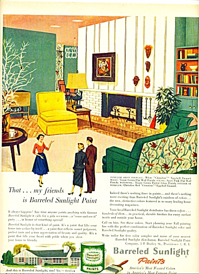 1952 Barreled Sunlight PAINT AD ART SIP AL .. (Image1)