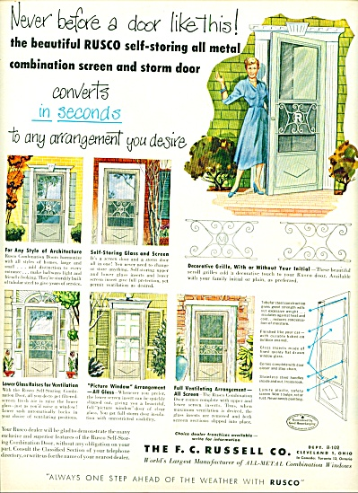 1952 The F.C. Russell Co Screen Storm Door AD (Image1)