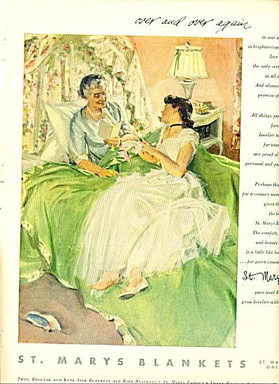 1952 St. Mary's Blankets AD John GANNAM ART (Image1)