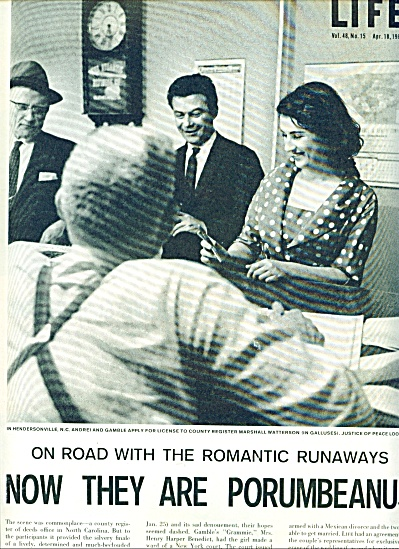 1960 Romantic Runaways Porumbeanus' story (Image1)