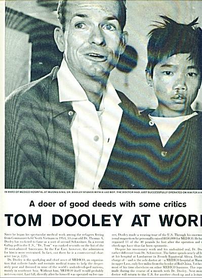 1960 Doctor Tom Dooley MEDICO Vietnam Story (Image1)