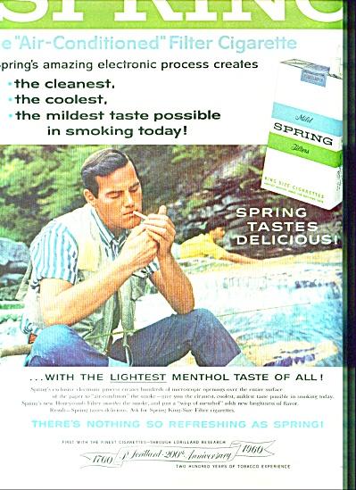 1960 Spring cigarettes ad  RARE BRAND (Image1)