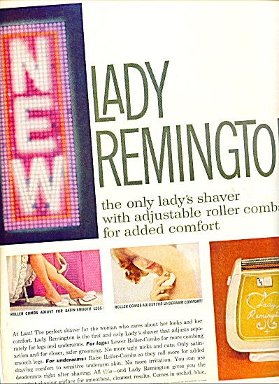 Lady Remington Lady's Shaver Ad 1960