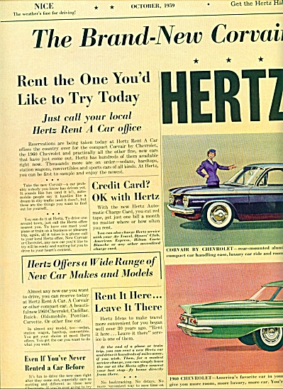 Hertz Rent a Car ads 1959 (Image1)