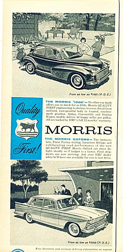 Morris Automobile - British ad 1959 (Image1)