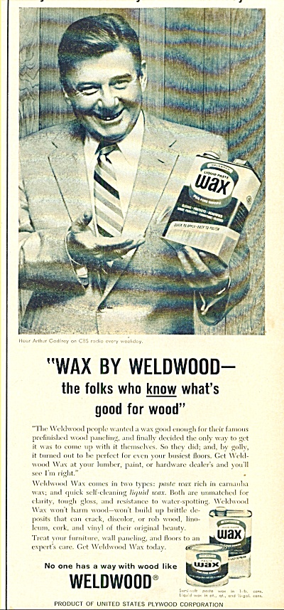 Wax by Weldwood - ARTHUR GODFREY (Image1)