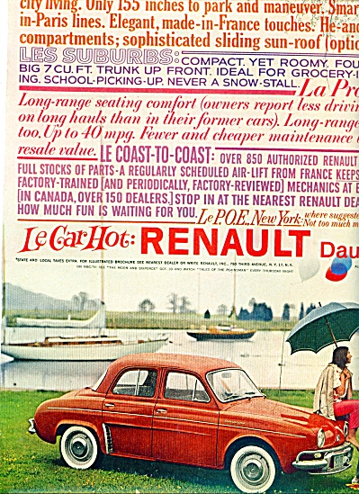Renault Dauphine automobile ad 1959 (Image1)