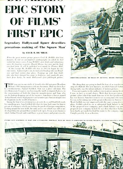 1959 DE MILLE'S Epic FILMS Story 10p Expose (Image1)